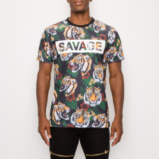Savage tiger print green